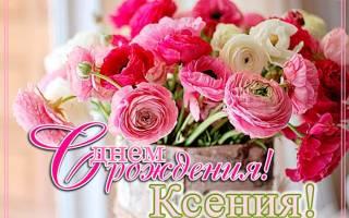 Поздравления с днем рождения Ксении