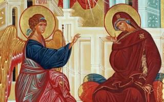Благовещение Пресвятой Богородицы 2020
