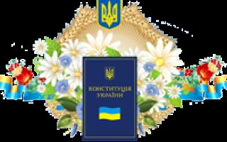 Поздравление в день Конституции Украины 2020