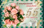 Красивые поздравления с юбилеем свадьбы 55 лет