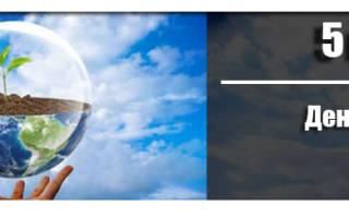 Когда день эколога 2020 — 5 июня