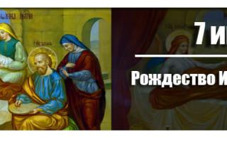 Когда Рождество Иоанна Предтечи 2020 — 7 июля