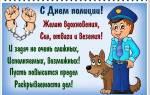 Короткие смс пожелания ко Дню полиции