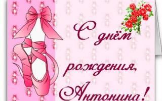 Поздравления с днем рождения Антонине