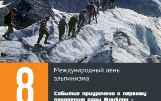 Когда день альпинизма 2020 — 8 августа