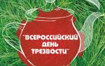 Всероссийский день Трезвости — смс поздравления