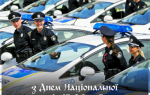 Поздравления с Днем полиции на украинском