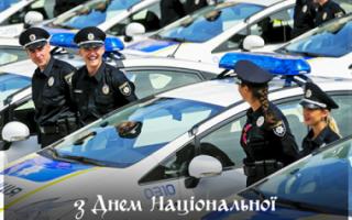Поздравления с днем милиции/полиции в Украине