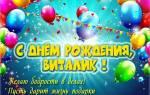 Поздравления с днем рождения Виталию