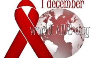 Всемирный день борьбы со СПИДом — 1 декабря 2020