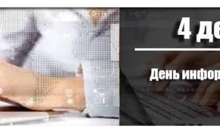 Когда День информатики в России 2020 — 4 декабря