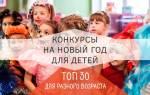 Конкурсы на Новый год для детей и школьников